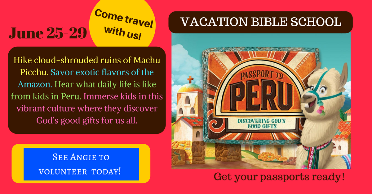 CLICK to PRE-REGISTER for VBS today!