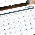 Click the calendar tab for a list of events
